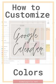 Google Calendar, Cute Calendar, Calendar Time, Online Calendar, College Schedule, College Tips, Trello Templates, Google Search Bar, Google Tricks