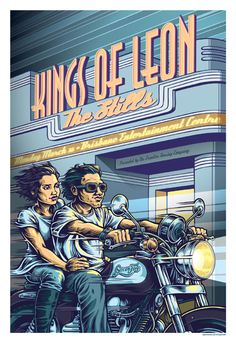 kings of leon and the stills - gig poster