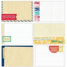 Summer Lovin' 4 X 6 Journaling Tags