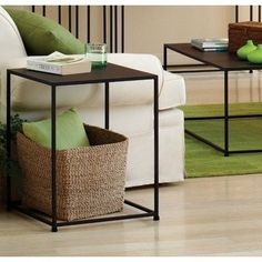 Tag Urban End Table, Coco Brown by Tag Furnishings Group. $212.00. Features a beautiful and durable powder coat finish in coco color. Sleek design is well suited for smaller spaces. No assembly required. End table dimensions are 18-inch by 18-inch by 22-1/2-inch high. Constructed with solid steel rods and steel plate tops. Tag furnishings group created this sleek and sophisticated line of furniture to coordinate with many decor themes. Urban end table, 18-inch...