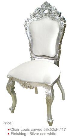 Ce somptueux fauteuil tr ne pour p re no l est disponible chez d co priv le - Chaise baroque blanche ...