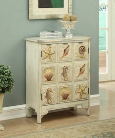 Love this Cream Seashell Large Two-Door Cabinet by Coast to Coast on #zulily! #zulilyfinds