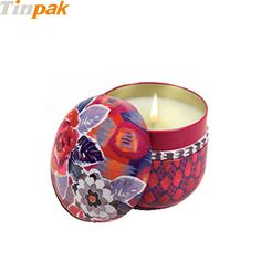 The small candle tin has no sharp edges, all edges are rounded and seamlessly formed from .23 tinplate. http://www.tinpak.us/Products/SmallCandleTinforFragonard.html