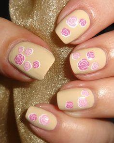 Wendy's Delights: Rosebud Nail Water Decals from Sparkly Nails @sparklynails #roses #rosebud #floral #waterdecals