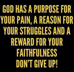 Purpose and pain.
