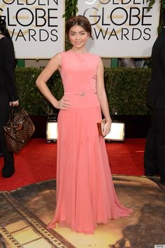 Nice Red Carpet Fashion Sarah Hyland on the 2014 Golden Globes Red Carpet  in a Georges Hobeika gown. #G... Check more at http://24myshop.tk/my-desires/red-carpet-fashion-sarah-hyland-on-the-2014-golden-globes-red-carpet-in-a-georges-hobeika-gown-g/
