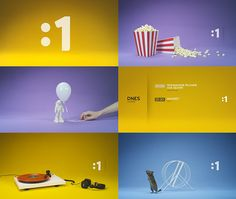 """new visual identity of our national tv """"One""""    With love by MILK (www.milk.sk)"""