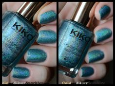 Kiko Holographic 401 #beautyblogs # blogs #nails #notd Holographic, My Nails, Swatch, Nail Designs, Nail Polish, Nail Desings, Nail Polishes, Polish, Nail Design