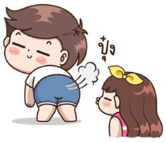 Boobie Cute Couple : Love Love – LINE stickers | LINE STORE