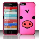 Rubberized Pink Pig Design phone case for iPhone 5 - #apple #iphone5 #appleiphone5 #iphone5accessories #iphone5cases -   Product Description Apple iPhone 5   Rubberized Hard Case  Pink Pig Design        Form-fitted skin case wraps around the entire p