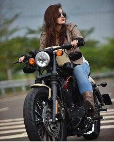 Cars Discover Harley Davidson Men Forty Eight harley davidson scrambler bobbers. Honda Cb750, Ducati, Moto Guzzi, Bike Photography, Photography Poses Women, Feminism Photography, Motorbike Girl, Motorcycle Style, Enfield Motorcycle