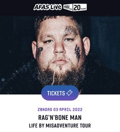 Rag N Bone, April 3, 20 Years, Amsterdam, Tours, Movie Posters, Life, Film Poster, Billboard