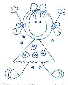 Arts And Crafts With Paper Refferal: 1378703961 Art Drawings For Kids, Doodle Drawings, Drawing For Kids, Doodle Art, Easy Drawings, Art For Kids, Embroidery Patterns, Hand Embroidery, Stick Figure Drawing