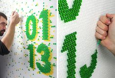 losiento_wired_03: bubble wrap typography for wired UK.  The lettering is made by inserting liquid into the plastic bubble wrap paper,