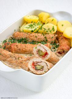 Roladki ze schabu w sosie pieczarkowym