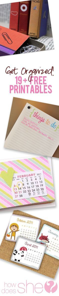 Get organized with these free printables