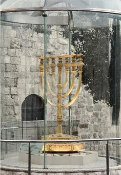 This Menorah is outside the ruins of the Temple Mount, awaiting the third temple! ISRAEL