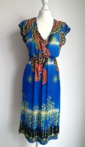 8efcf2608d DESIGUAL rozkloszowana sukienka za kolano  WZORY L - 5984347028 - oficjalne  archiwum allegro