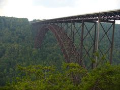 recently drove over this bridge at night...so scary!  but beautiful sight during the day!   West Virginia