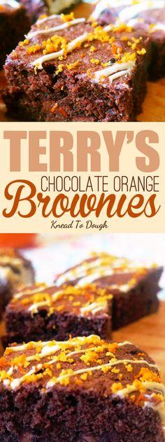 BEST Terry's Chocolate Orange Brownies recipe - this brownie is gooey ...