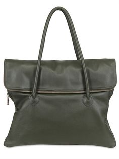 DIVERSO ITALIANO - DRUMMED LEATHER MAXI ZIP MARIA BAG
