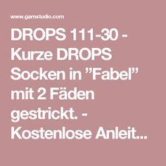 """DROPS 111-30 - Kurze DROPS Socken in """"Fabel"""" mit 2 Fäden gestrickt.  - Kostenlose Anleitungen von DROPS Design"""