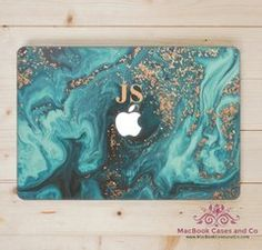 Marble With Initials Macbook Case. MacBook Case. Macbook Cover. Hard plastic Top and Clear Bottom