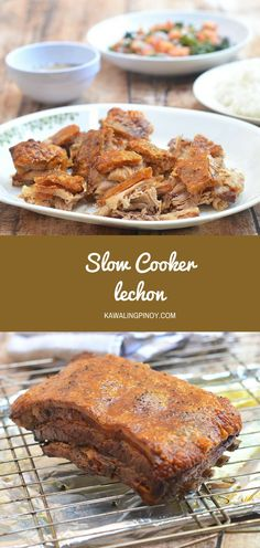 Slow Cooker Lechon made easy in the crockpot! Moist and juicy on the inside and golden and crunchy on the outside, it's easy and convenient weeknight dinner the whole family will love. via @lalainespins