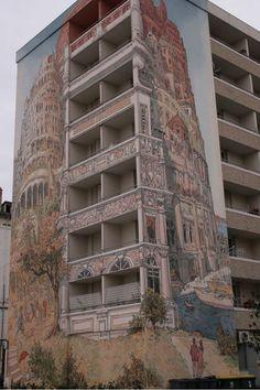 Large Scale Street Art Mural- Lyon, France