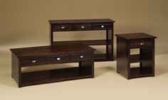 Amish Avery Occasional Table Set