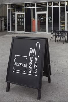 unpackaged . london, a-board, a-frame, sandwich board