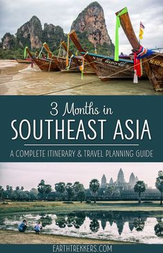 Southeast Asia Travel Guide and Itinerary. With this 3 month Southeast Asia itinerary, visit Thailand, Laos, Cambodia, Vietnam and Myanmar. Get ideas of how much time to spend in each country, the best places to visit, when to go, and how to get your visas. Thailand | Cambodia | Myanmar | Laos | Vietnam #southeastasia #itinerary #travelguide #asia