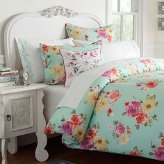 Lot of options on PB Teen: Junk Gypsy Country Blooms Duvet Cover + Sham #pbteen