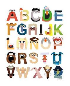 Muppet ABC's @Cherry Powers ... Thought you'd like this