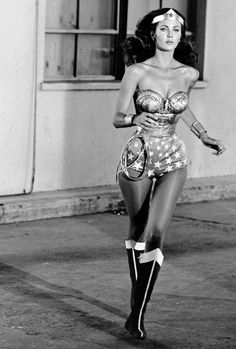Lynda Carter as Wonder Woman, 1970's. Love her through and through; I think I love her most for her advancement as a Latina in the media.