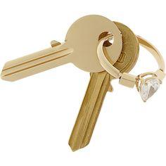 Maison Martin Margiela Gold-tone crystal key fob ($315) ❤ liked on Polyvore