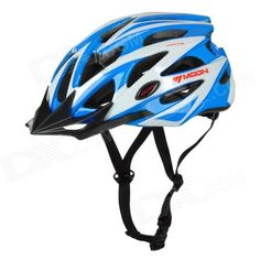 MOON BH-29 Stylish PC   EPS Bicycle Safety Helmet for Cycling - White   Blue Price: $25.60