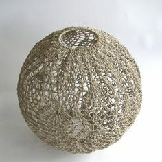Medium Hemp Peacock Crocheted Ball Shade by Moonbasket (Dani Le Roy & Laura Summs)