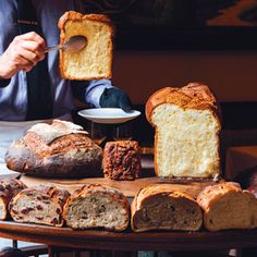 The grand chariots of bread at Bouley can include pistachio hazelnut, black current anise and saffron walnut, to name a few.