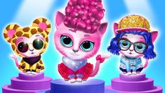 Cute Outfits for Pink Kitty Kiki! Cartoon Games, Games For Kids, Dress Ideas, Your Dog, Salons, Cartoons, Cute Outfits, Kitty, Fancy