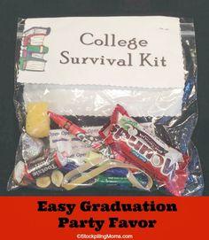 Inexpensive Graduation Gifts graduation party favor | recipe | college survival, survival kits