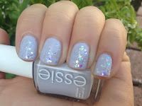 The Sparkle Spectrum: NOTD: Sally Hansen Complete Salon Manicure Snow Globe (New Formulation) and Essie's To But Or Not Too Buy Review  sally hansen snow globe color
