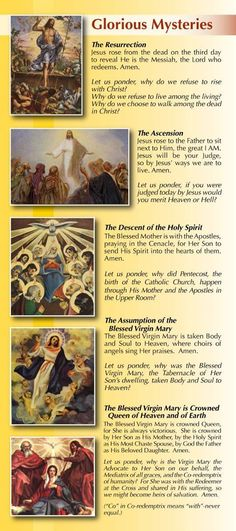 glorious mysteries images - Google Search | Mysteries of the Holy ...