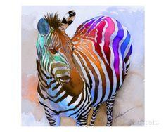 Zebra Dreams Gicléedruk van Galen Hazelhofer bij AllPosters.nl
