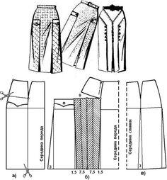 Моделирование юбок на базе юбки прямой двухшовной |