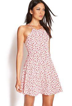 Dainty Rose Skater Dress   FOREVER21 #SummerForever
