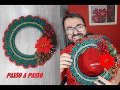 Guirlanda de Crochê Passo a Passo por Neddy Ghusmam - YouTube Crochet Earrings, Christmas Gifts, Wreaths, Halloween, Professor, Decor, 3d, Videos, Youtube