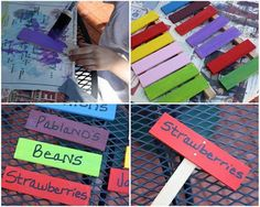 fun, bright garden markers. Fun summer outdoor activity for kids