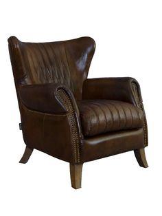 """Ohrensessel """"Enfield"""" - Schöner und kompakter Ohrensessel mit Rautenmuster und Messingnieten. #vintageline #living #armchair #wingchair"""