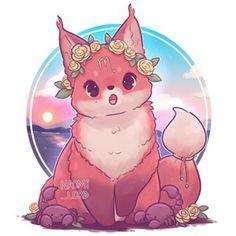 cute fox No photo description available. Cute Fox Drawing, Cute Animal Drawings Kawaii, Cute Cartoon Drawings, Cute Kawaii Animals, Cute Little Animals, Chibi Kawaii, Kawaii Art, Kawaii Anime, Cute Fantasy Creatures
